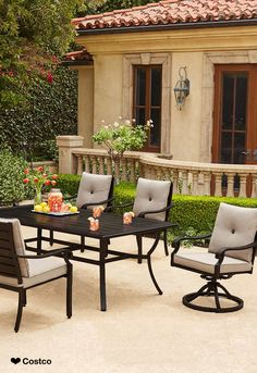 Design inspired by British Colonial, traditional island wood furniture styles, the seven piece Beaumont Collection dining set by SunVilla will complete your own outdoor or sunroom entertaining spaces.