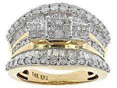 White Diamond 10k Yellow Gold Ring 2.00ctw - RGD022   JTV.com Affordable Diamond Rings, Diamond Rings For Sale, Diamond Promise Rings, White Diamond Ring, Diamond Gemstone, Yellow Gold Rings, Diamond Jewelry, Diamond Cuts, Champagne Diamond