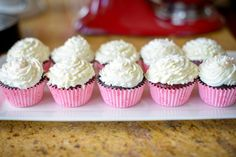 Red Velvet & Chocolate Cupcakes with vanilla buttercream frosting
