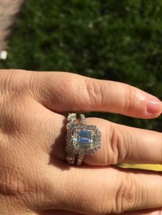 FB Emerald Cut Moissy Custom Ring IS DONE! Let's See Your Custom Moissy! - Weddingbee | Page 3