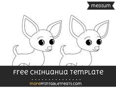 Free Chihuahua Template - Medium