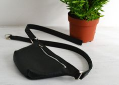 This stylish waist bag is crafted with high quality pebbled Italian leather. It is perfectly sized to keep your everyday essentials, ideal for weekend shopping trips, night hours in the club and jogging too.  * Highest quality Italian leather * One main compartment with a zip closure (YKK zipper) * Unlined * Adjustable belt strap * Dust bag  Dimensions: Height: 4.7 12 cm Width: 7.5 19 cm Depth: 1 2,5 cm Belt strap: max 40 100 cm  Color may vary depending upon monitor…