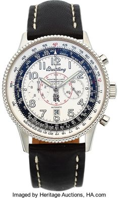 FOR A LIMITED TIME - Ends On 2017-10-24 17:50 (GMT) - Breitling Rare Rolls-Royce Limited Edition Montbrillant 1903 Chronograph Made For National Aviation Hall Of Fame Enshrinee Re... Breitling Rare Rolls-Royce Limited Edition Montbrillant 1903 Chronograph Made For National Aviation Hall Of Fame Enshrinee Recipients & Aviation Dignitaries, circa 2003 Case: 42 mm, stainless, screw back, bidirectional milled slide rule bezel, round push buttons, back with raised commemorat