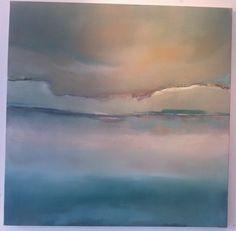 Gabriella Moussette   Art / paysage/ Abstraction / Huile sur toile 100/100cm