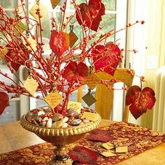 A Fall Tree to decorate... for those of us who can't wait for Christmas Trees