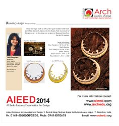 Jewellery Design ALEED 2014 All India Entrance Examination for Design For more information contact www.aieed.com www.archedu.org