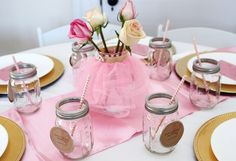 """Photo 6 of 51: Vintage Ballerina / Baby Shower/Sip & See """"All Thinks Pink, Tulle, & Gold"""""""