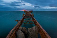 This shot was taken in the Azerbaijan sector of the Caspian Sea in Baku coastline