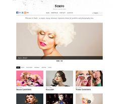 Simfo, responsive, Tumblr-like, image focused WP Theme