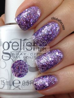 Gelish Trends Feel Me On Your Fingertips gelish Gelish Nail Colours, Shellac Nails, Nail Polish Colors, Gel Polish, My Nails, Fall Nails, Purple Gel Nails, Sparkly Nails, Cute Nails