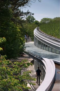 Nice curves - Brooklyn Botanic Garden Visitor Center, Edge Metal by W.P.Hickman Company