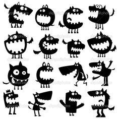 забавные животные — Стоковая иллюстрация #8620004