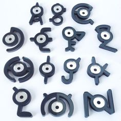 Unown Pokemon Fridge Magnets Shut Up And Take My Yen : Anime & Gaming Merchandise