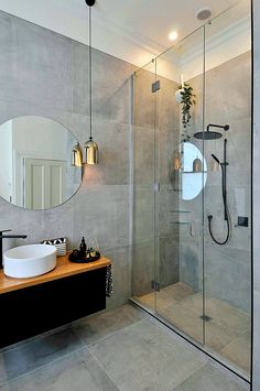 Modern bathroom design must have proper safety features to prevent accidents. These are general and specific features a bathroom needs. Modern White Bathroom, Rustic Bathrooms, Modern Bathroom Design, Small Bathroom, Bathroom Mirror Design, Modern Bathrooms, Bathroom Designs, Bathroom Trends, Bathroom Interior