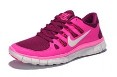 Nike Free 5.0+ Womens Dark Pink White Running Shoes
