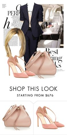 """""""Navy and pastel"""" by ivanoe ❤ liked on Polyvore featuring Whiteley, DKNY, H&M, Tom Ford and Francesco Russo"""