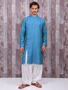 estive Wear Kurta Suit In Blue Color, Kurta pyjama, mens indian wear