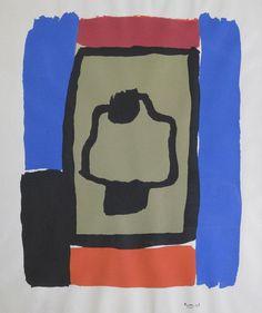 """Miguel Ángel Pareja Piñeiro """"La campana"""" Serigrafía, prueba de artista  36 x 28 cm. Año 1965  http://www.portondesanpedro.com/ver-producto.php?id=11905"""