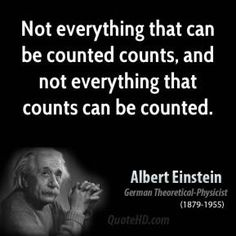 Not everything that can be counted counts, and not everything that counts can be counted. Einstein #business #quotes