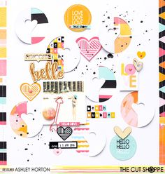Layout: Beach Bubbles - Cut out fun shapes and elements with an electronic die cut machine for a fun and trendy layout.