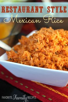 Restaurant Style Mexican Rice from favfamilyrecipes.com #mexicanrice #rice #mexicanfood