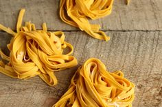 You won't believe how easy it is to make this homemade pasta recipe. Only three ingredients, a little bit of rolling action, and you'll be set!
