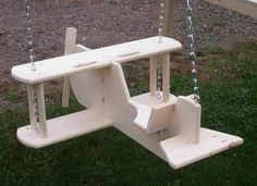 Unique Kids Toy Airplane Swing Wooden Solid Pine Wood Amish Toddler Boy Girl New | eBay
