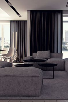 Living room design in Katowice, POLAND - archi group. Salon w mieszkaniu w Katowicach.