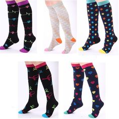 f6c2074fef5 5 Styles of Fun Designs Compression Socks