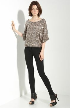Ahhhh....I have this sequined dolman top.  One of my favorite pieces in my closet.