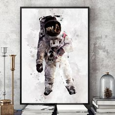 Astronaut Poster NASA Print Kids Room Astronaut Wall Art Nasa, Solar System Room, Another A, Home Room Design, Kids Room Wall Art, Bedroom Themes, Poster, Baby Rooms, Kids Rooms