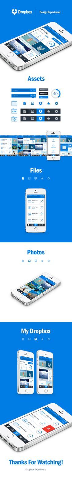 Dropbox Redesign Concept #appdesign #graphicdesign #UX #UI #ios #uxdesign #uidesign #app