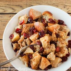 Slow Cooker Cranberry Apple French Toast | AllFreeSlowCookerRecipes.com