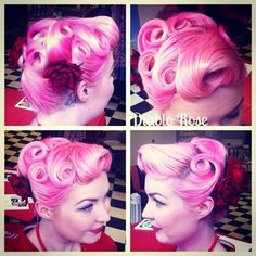 Today's pin curled up do with Diablo Rose