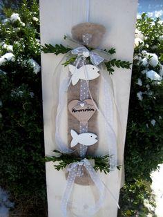 Dekoration - ♥♥♥ XL shabby Landhaus Kommunion Tauf Türdeko ♥♥♥ - ein Designerstück von Sternenglanz-Clemens bei DaWanda
