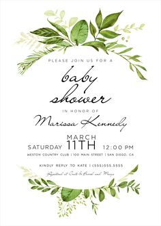 I like the greenery on this invite