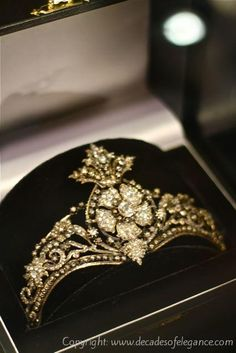 Late 18th Century tiara with rose cut diamonds at DBGems, Grays Antique Market