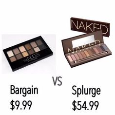 This list is a great resource for makeup bargains vs splurges.