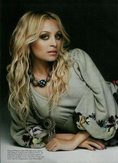 Nicole Richie.  I still have this pic from the magazine on my wall.  This has been my hair and makeup/look inspiration for years. :)