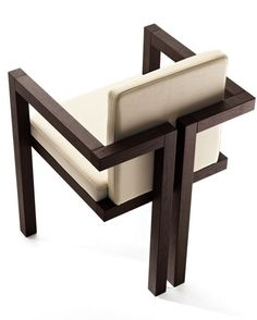 ALZÉ leather #chair with armrests by Eco&co #design Alberto Collovati