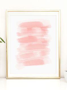 blushing coral modern art printable artwork by printablehappies affordably cute printable artwork by printable happies