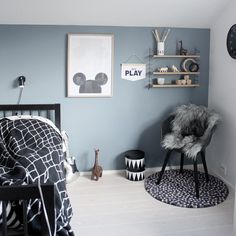"Ingrid på Instagram: ""[ GLOWING PARIS ] Love the new ""dusty blue"" colour in big brothers room- WHAT a change #nordsjonorge #glowingparis"""