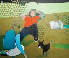 Sabina Twardowska, 'Pole Mokotowskie', 110x130 cm, oil on canvas, 2008