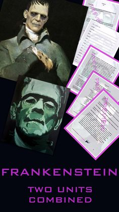 frankenstein literature ela test essay questions entire novel frankenstein two units combined literature ela essay writing