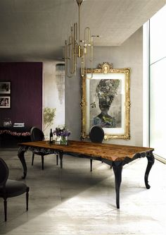 10 Astonishing Wood Dining Rooms: Modern Dining Room Table #diningroomtable #diningroomfurniture #diningroomdesign dining room decor, dining table ideas, dining room table sets | See more at http://diningroomideas.eu/astonishing-wood-dining-rooms-modern-dining-room-table