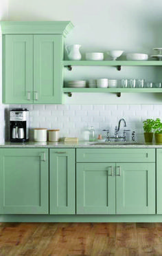 Fresh, airy, and clean. PureStyle kitchen cabinetry from @homedepot resists moisture and stains from common foods and liquids. Discover your Martha Stewart Living dream kitchen today! Pictured here: Gardner Rainwater PureStyle