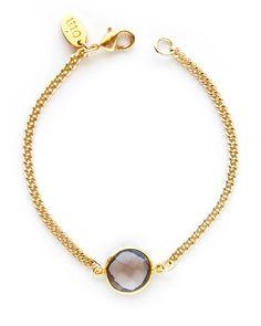 The Chalcedony Dainty Gemstone Bracelet by JewelMint.com, $36.00