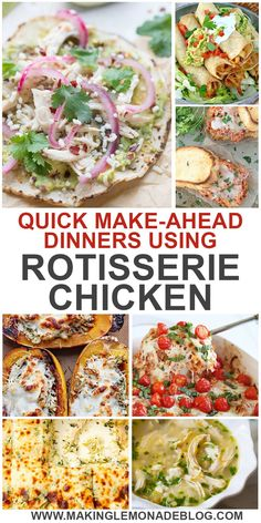 These Quick And Easy Dinner Recipes Using Rotisserie Chicken Will Solve The Problem Of What To Make For Dinner On Hectic Nights. You Can Even Prep Them Ahead By Freezing Shredded Rotisserie Chicken, And Whip Up Tasty And Delicious Meals In Minutes Flat W Recipes Using Rotisserie Chicken, Chicken Freezer Meals, Leftover Rotisserie Chicken, Leftover Chicken Recipes, Shredded Chicken Recipes, Chicken Meal Prep, Ground Beef Recipes, Healthy Chicken Recipes, Chicken Leftovers