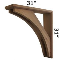 We offer wooden cedar architectural brackets, wooden cedar corbels and gingerbreads for front porch posts, gable, sofits and front stoop. We have largest selection of Cedar Brackets and Cedar Brace made in USA.