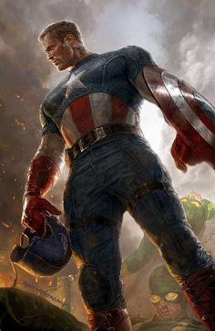 "Variant cover by Ryan Meinerding for ""Captain America"" #1"